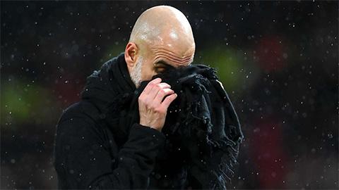 HLV Guardiola lập kỷ lục buồn sau trận derby Manchester