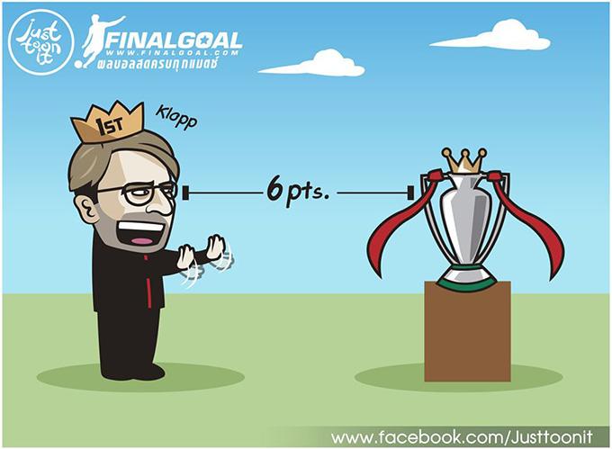 Nhờ có Manchester United, Liverpool giờ chỉ còn cách chức vô địch Ngoại hạng Anh có 6 điểm