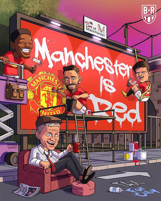 Thắng Manchester City ở cả hai lượt trận Ngoại hạng Anh, Manchester United khẳng định thành Man chỉ có một màu đỏ