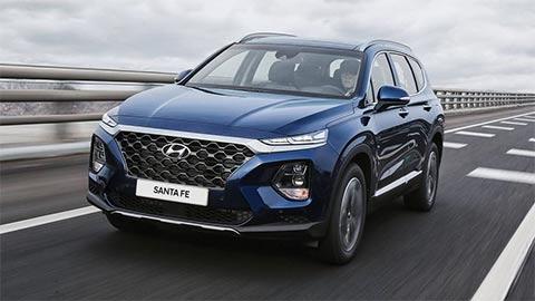 Hyundai Santa Fe giảm giá mạnh, đối đầu Toyota Fortuner, Mazda CX-8