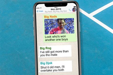Nhóm chat kín ba người: Nadal, Federer và Djokovic