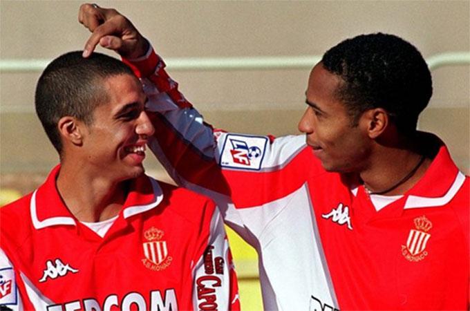 Trezeguet và Henry từng là đồng đội ở Monaco