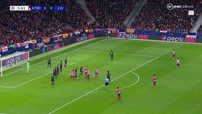 Ngay cả tấn công, Atletico vẫn thiên về phòng ngự