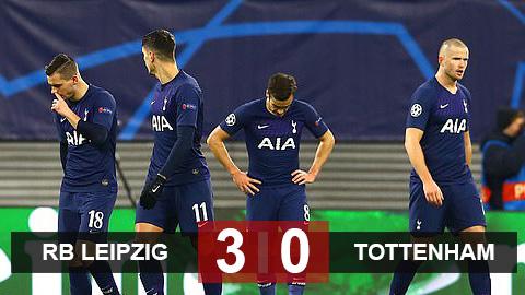 Leipzig 3-0 Tottenham (chung cuộc 4-0): Tottenham bạc nhược rời Champions League