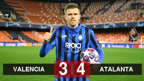 Valencia 3-4 Atalanta (chung cuộc 4-8): Ilicic lập poker, Atalanta lần đầu vào tứ kết Champions League