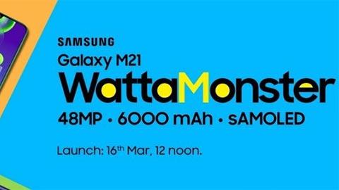Samsung Galaxy M21 với pin 6000mAh, camera 48MP, giá rẻ - xác nhận ngày ra mắt