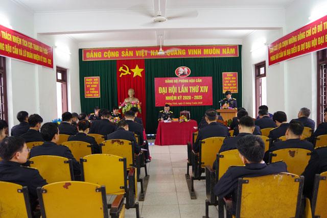 Quang cảnh Đại hội Đảng bộ Phòng Hậu cần