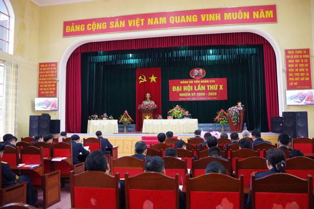 Quang cảnh Đại hội Đảng bộ Tiểu đoàn 474
