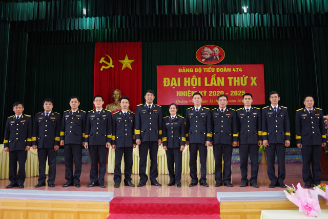Các đại biểu Đảng bộ Tiểu đoàn 474 đi dự Đại hội Đảng bộ cấp trên ra mắt đại hội