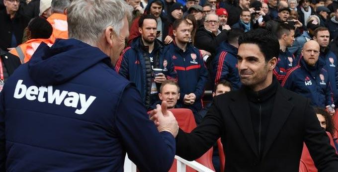 Moyes đã bắt tay Arteta khi West Ham đụng độ Arsenal