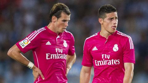 """Bale (trái) và James là 2 trong nhiều cầu thủ có trong danh sách """"thanh lý"""" của Real"""