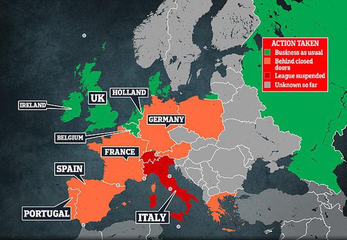 Dịch cúm virus Corona đang đe dọa cả châu Âu
