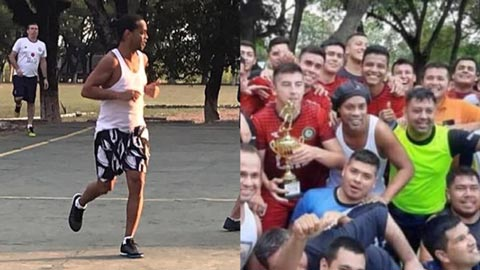 Giữa tâm dịch Covid-19, giải futsal trong tù của Ronaldinho thành hàng hot