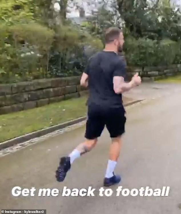 Hậu vệ Kyle Walker (Man City) thích chạy bộ
