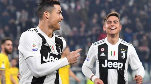 Juventus luôn ghi được rất nhiều bàn thắng mỗi khi sử dụng cả Dybala (phải) lẫn Ronaldo