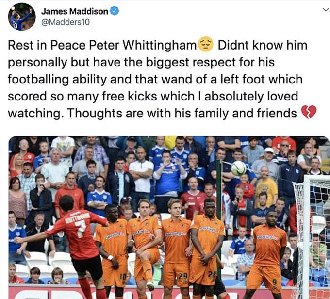 Thông điệp của Maddison trên mạng Twitter