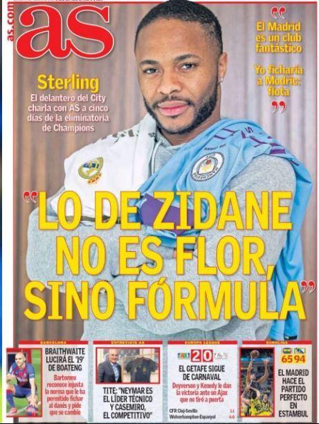 Sterling còn lên hẳn tạp chí