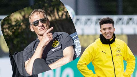 GĐĐH Watzke vừa tuyên bố, Dortmund không khát tiền mà phải đem bán Sancho (phải)