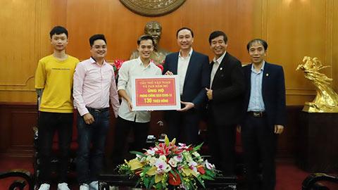 Văn Toàn và fan ủng hộ 130 triệu đồng chống dịch Covid-19
