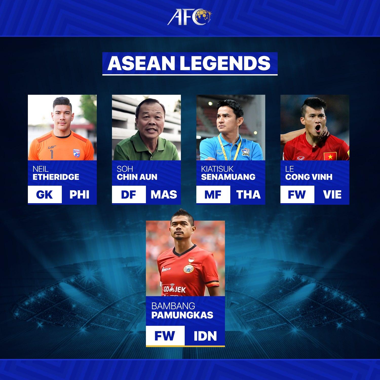 Lê Công Vinh được xếp vào nhóm huyền thoại của Đông Nam Á - Ảnh: AFC