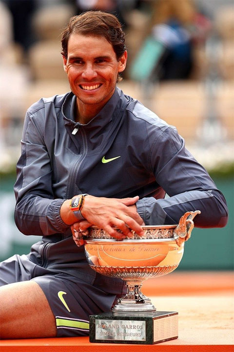 Nadal với danh hiệu Roland Garros thứ 12