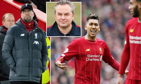 Lee Richardson (ảnh nhỏ) được Klopp thuê về để lên dây cót tinh thần cho các cầu thủ Liverpool