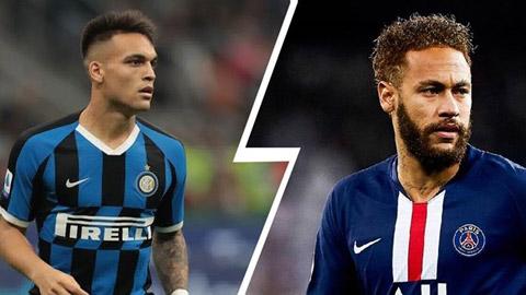 Vì Covid-19 Barca chỉ được phép chọn Neymar hoặc Lautaro Martinez