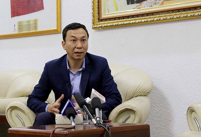 Phó Chủ tịch thường trực VFF - Trần Quốc Tuấn khẳng định V.League 2020 sẽ tiếp tục diễn ra - Ảnh: VFF