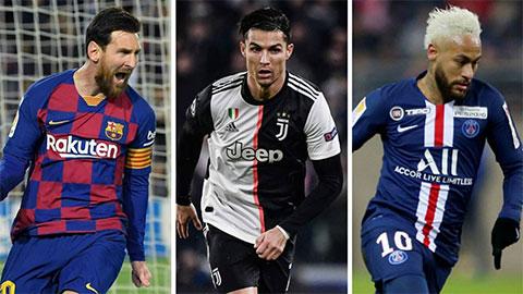 Top 10 cầu thủ nhận lương cao nhất thế giới: Messi cho Ronaldo ngửi khói