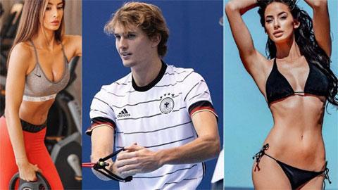 """Nhan sắc cô bồ sexy với 3 vòng """"bốc lửa"""" của hoàng tử quần vợt Zverev"""