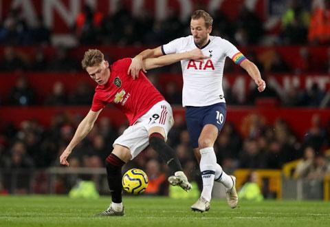Mùa tới, Harry Kane (phải) có thể là đồng đội với Scott McTominay ở Man United