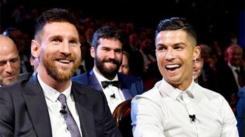Cuối cùng, Messi và Ronaldo cũng về 'chung 1 đội'