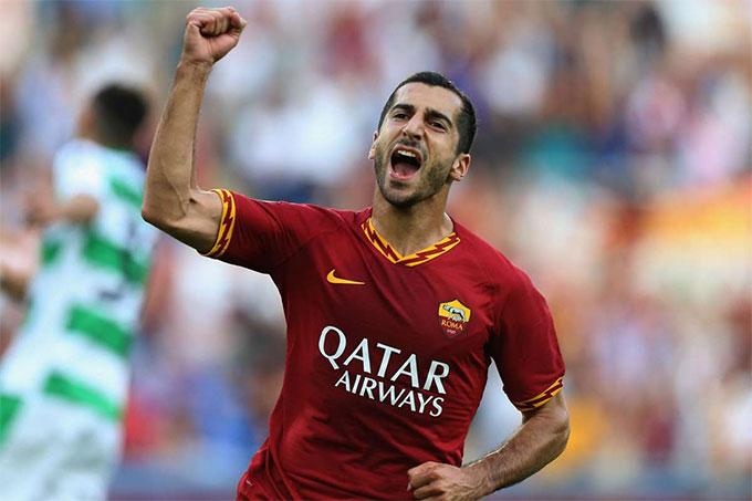 Mkhitaryan đang chơi cho Roma theo dạng cho mượn