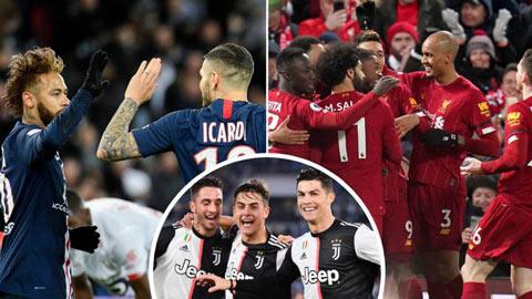 BXH kết hợp 5 giải hàng đầu châu Âu: Liverpool vẫn vô đối