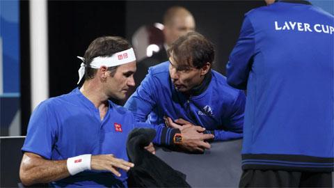 Nadal chỉ đạo Federer ở Laver Cup 2019