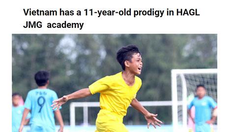 Cầu thủ 11 tuổi của Việt Nam xuất hiện trên trang tin nước ngoài