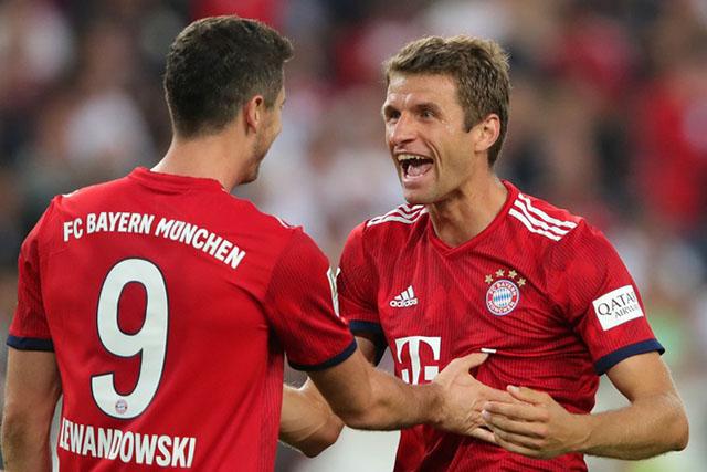 Lewandowksi và Mueller đang có những đóng góp quan trọng cho Bayern