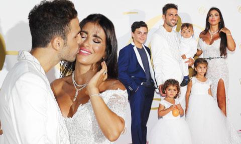 Cesc Fabregas hạnh phúc cùng Semaan bên cạnh 5 con chung và riêng