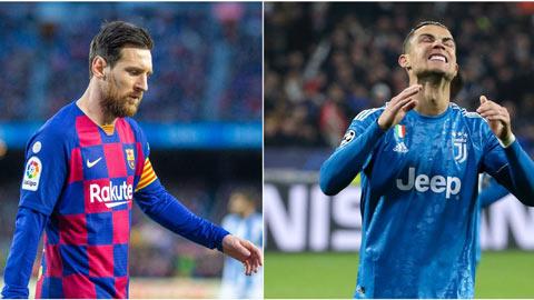 Đại dịch Covid-19 có thể khiến Ronaldo và Messi mất bao nhiêu tiền?