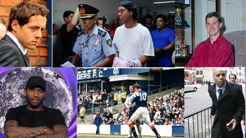 Ronaldinho và những ngôi sao phải ngồi tù khi đang thi đấu