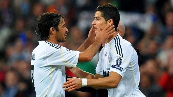 Tại Real, Raul đã tìm được truyền nhân là Ronaldo