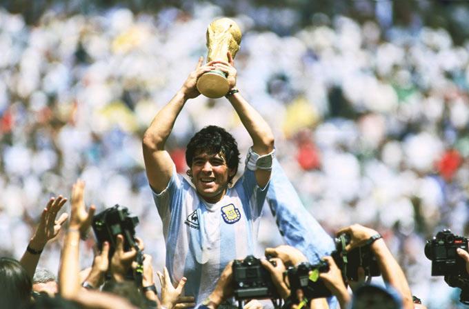 Maradona có sự nghiệp hiển hách cùng ĐT Argentina