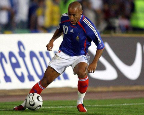 Faubert từng thừa kế chiếc áo số 10 của Zidane tại ĐT Pháp