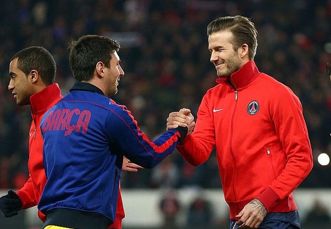 Beckham đánh giá Messi hơn Ronaldo