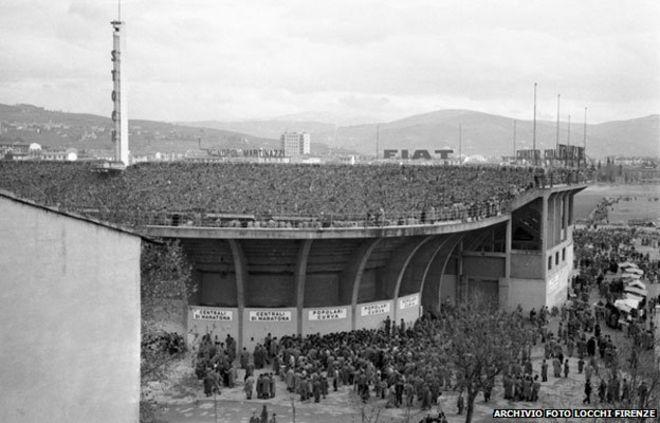 SVĐ Artemio Franchi của Fiorentina, nơi đĩa bay xuất hiện 60 năm trước
