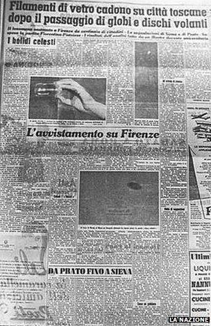 Báo chí Italia ồ ạt đưa tin về vụ UFO này