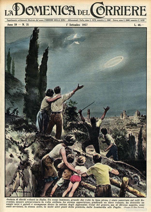Bài viết về UFO của tờ Corriere della Sera