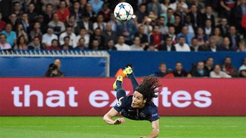 Cavani đánh đầu giỏi nhất Ligue 1 trong thập kỷ qua