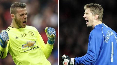 De Gea vượt qua kỷ lục sạch lưới của Van de Sar tại Man United