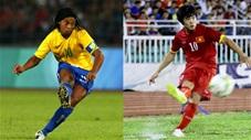 So sánh 2 tuyệt phẩm đá phạt của Công Phượng và Ronaldinho